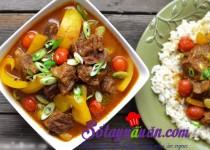 Bò hầm cà ri nước cốt dừa