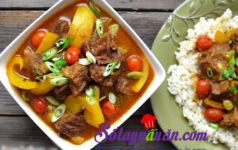 , Bò hầm cà ri nước cốt dừa