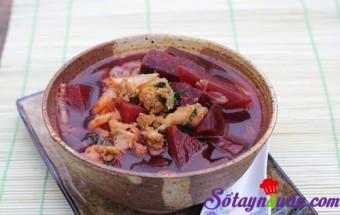 Nấu ăn món ngon mỗi ngày với Thịt nạc xay, Canh củ dền thơm mát