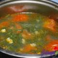tôm chiên cốm, Canh hến nấu chua 3
