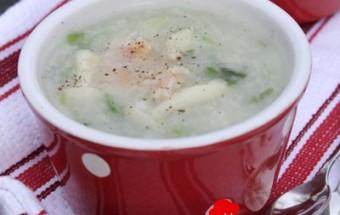Nấu ăn món ngon mỗi ngày với Nấm, Cháo nấm tôm cho trẻ