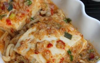 Nấu ăn món ngon mỗi ngày với Thịt nạc xay, Đậu phụ hấp tôm nấm