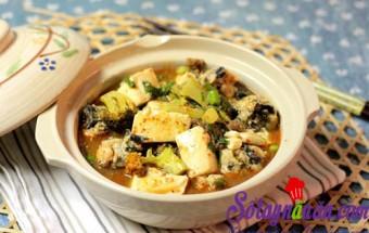 Nấu ăn món ngon mỗi ngày với Bông cải xanh, Đậu phụ om mọc