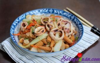 Nấu ăn món ngon mỗi ngày với Mực ống tươi, Mực xào cải thảo