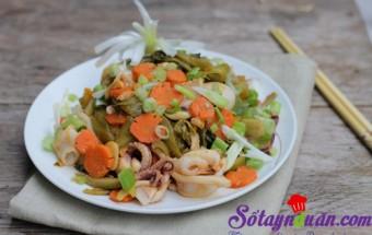 Nấu ăn món ngon mỗi ngày với Mực ống tươi, Mực xào dưa chua
