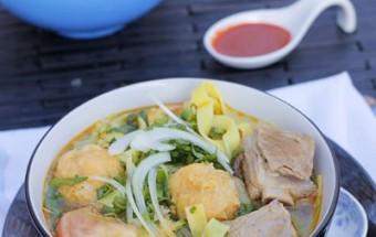 Nấu ăn món ngon mỗi ngày với Táo, Mỳ chả cá sườn non