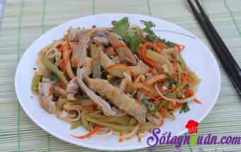 Nấu ăn món ngon mỗi ngày với Lạc rang, Nộm dạ dày