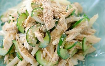 Nấu ăn món ngon mỗi ngày với Tỏi tây, Nộm gà xé dưa chuột