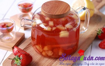 Nấu ăn món ngon mỗi ngày với Dâu tây, Thanh mát trà trái cây