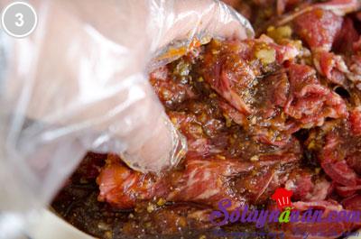 Thịt bò sốt chua ngọt 3