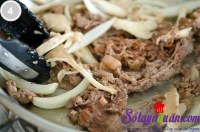 Thịt bò sốt chua ngọt 4