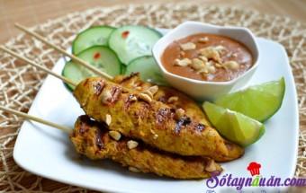 Nấu ăn món ngon mỗi ngày với Bột nghệ, Thịt gà xiên nướng
