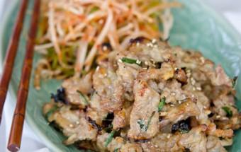 Nấu ăn món ngon mỗi ngày với Thịt lợn, Thịt nướng lá hẹ