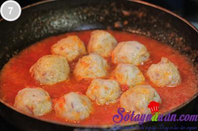 Thịt viên bọc trứng sốt cà 7