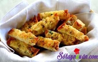 Nấu ăn món ngon mỗi ngày với Rau mùi thái nhỏ, Bánh mì bơ tỏi