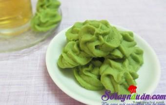 Nấu ăn món ngon mỗi ngày với Bột trà xanh, Bánh quy trà xanh