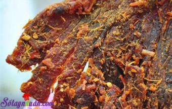 cách nướng, Cách làm thịt bò khô nhanh