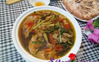 Nấu ăn món ngon mỗi ngày với Cua đồng, Canh cua rau rút