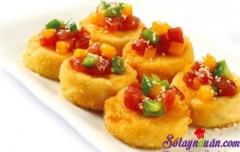 Nấu ăn món ngon mỗi ngày với mè rang, Đậu phụ non chiên