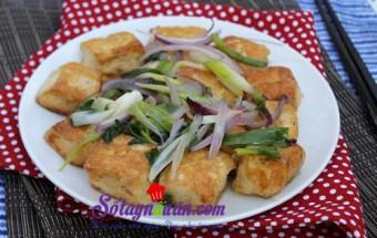 Nấu ăn món ngon mỗi ngày với Đậu phụ, Đậu phụ rang muối