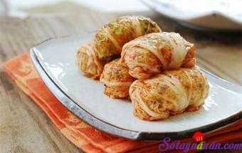 Nấu ăn món ngon mỗi ngày với Nấm, Kim chi cuộn cơm rang 1