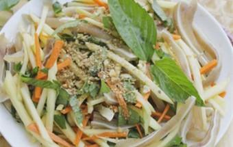 Nấu ăn món ngon mỗi ngày với Tai heo, Nộm xoài tai heo