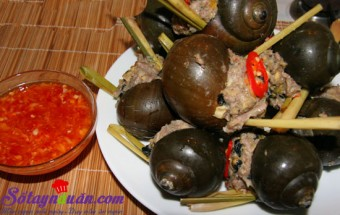 Nấu ăn món ngon mỗi ngày với Giò sống, Ốc nhồi thịt chấm mắm gừng