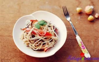 Nấu ăn món ngon mỗi ngày với Mộc nhĩ, Salad nấm kim châm