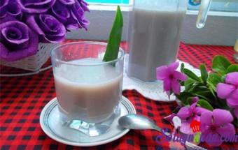 Nấu ăn món ngon mỗi ngày với Lá nếp, Sữa đậu đỏ thơm lừng