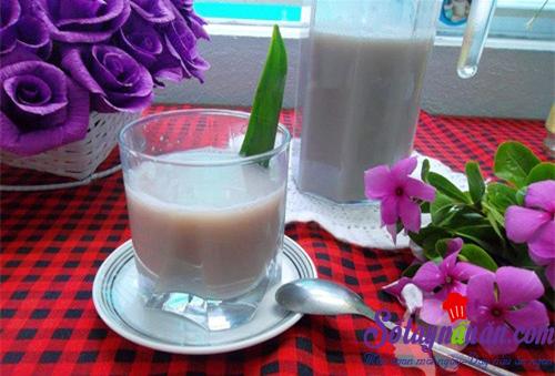 Sữa đậu đỏ thơm lừng