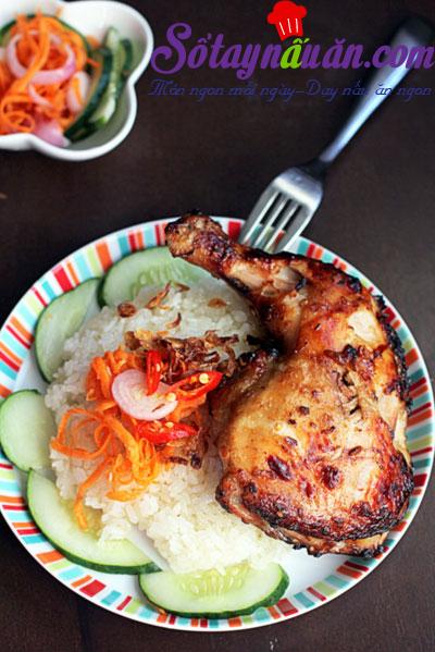 Xôi gà nướng ấm bụng 1
