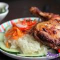thịt gà nướng, Xôi gà nướng ấm bụng