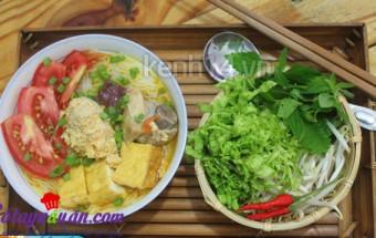 Nấu ăn món ngon mỗi ngày với Đậu phụ, Bún riêu cua tôm