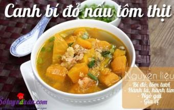 Nấu ăn món ngon mỗi ngày với Thịt nạc xay, Canh bí đỏ nấu thịt