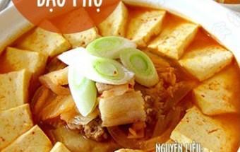 Nấu ăn món ngon mỗi ngày với Thịt ba chỉ, Canh kim chi đậu phụ