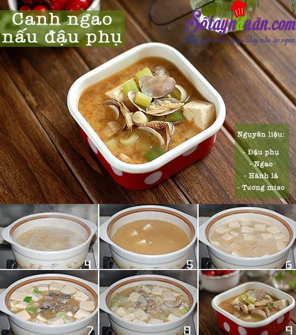 Học nấu canh ngao đậu phụ