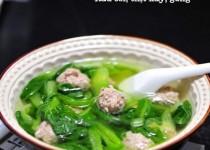 Canh rau cải nấu thịt