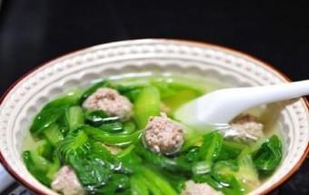 Nấu ăn món ngon mỗi ngày với Thịt nạc xay, Canh rau cải nấu thịt