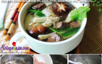 Nấu ăn món ngon mỗi ngày với Nấm kim châm, Canh thịt nấu nấm tươi