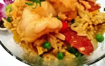 Nấu ăn món ngon mỗi ngày với Tôm sú, Cơm chiên kiểu Singapo