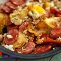 thịt đông, Cơm khoai tây xúc xích