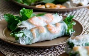 Nấu ăn món ngon mỗi ngày với Bún, Bữa tối ngon miệng với món gỏi cuốn tôm thịt