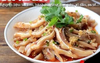 Nấu ăn món ngon mỗi ngày với Tai heo, Gỏi tai heo chua ngọt