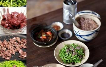 món ăn miền bắc, Hoa thiên lý xào thịt bò