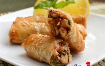 Nấu ăn món ngon mỗi ngày với Ớt chuông, Món nem gà kiểu thái