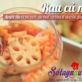 salad trứng cút, Rau củ muối kiểu kim chi