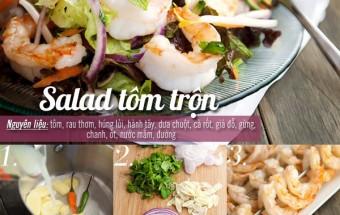 , Salad tôm trộn