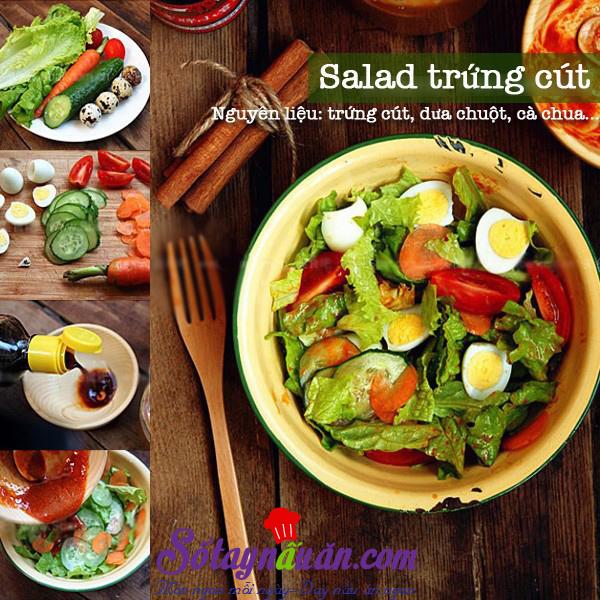 Salad trứng cút 1