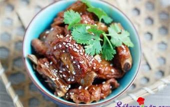 Nấu ăn món ngon mỗi ngày với Rượu gạo, Sườn rim mặn ngọt