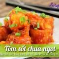 thịt rán giòn, Tôm sốt chua ngọt